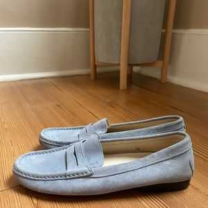 Tod's blue suede loafers SIZE 38